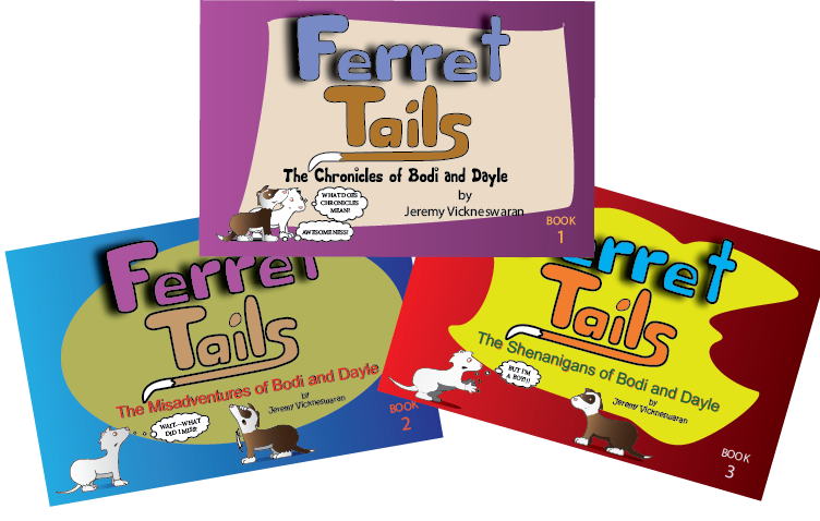 ferret tails three pack